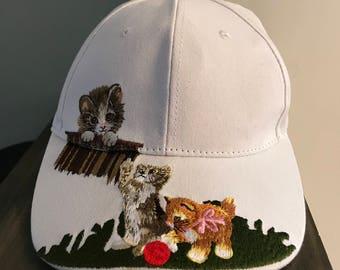Kitten Cat Baseball Hat
