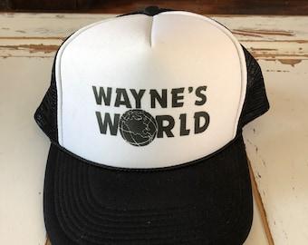 736e0502c359b Vintage 1990 s Trucker Hat Wayne s World