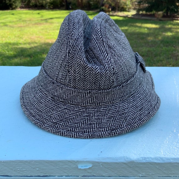 Vintage 1970's Wool Blend Fedora Hat