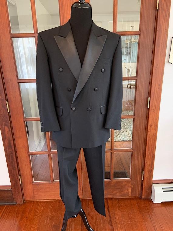 Vintage 1990's Men's Tuxedo Jacket and Pants Set