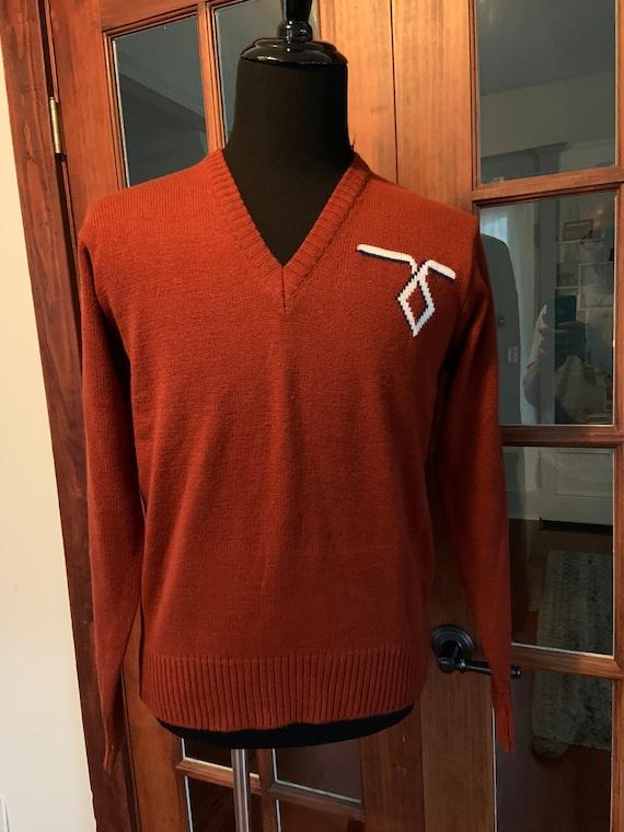 Vintage 1970's Kingsport V Neck Sweater