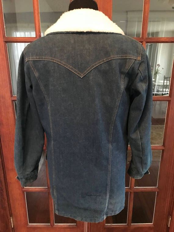 Vintage 1970's Lee Denim Storm Rider Jacket - image 6