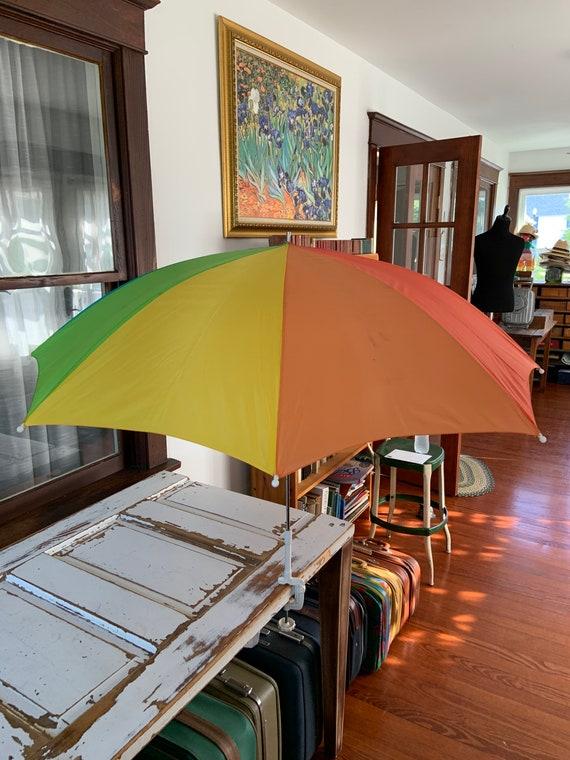Vintage 1980's or 1990's Rainbow Clip on Umbrella - image 1
