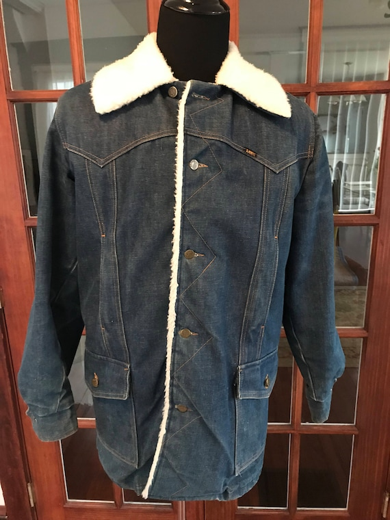 Vintage 1970's Lee Denim Storm Rider Jacket - image 1