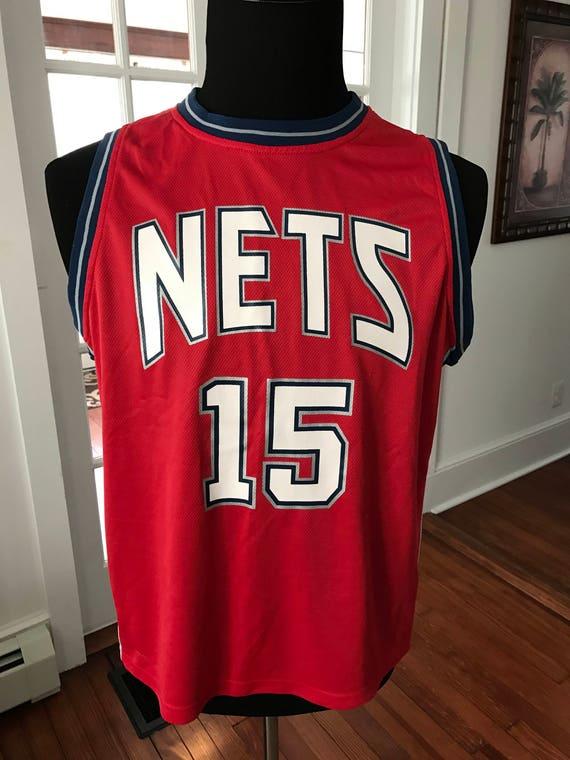 9d94e28a5cd NBA NJ Nets Vince Carter 15 Jersey | Etsy