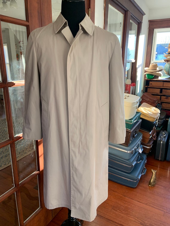 Vintage 1980's London Fog Lined Trench Coat