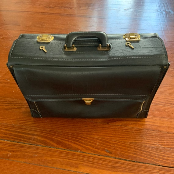 Vintage 1970's Homa Leather Document Lawyer Briefc