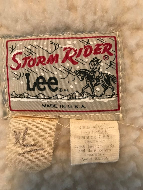 Vintage 1970's Lee Denim Storm Rider Jacket - image 9