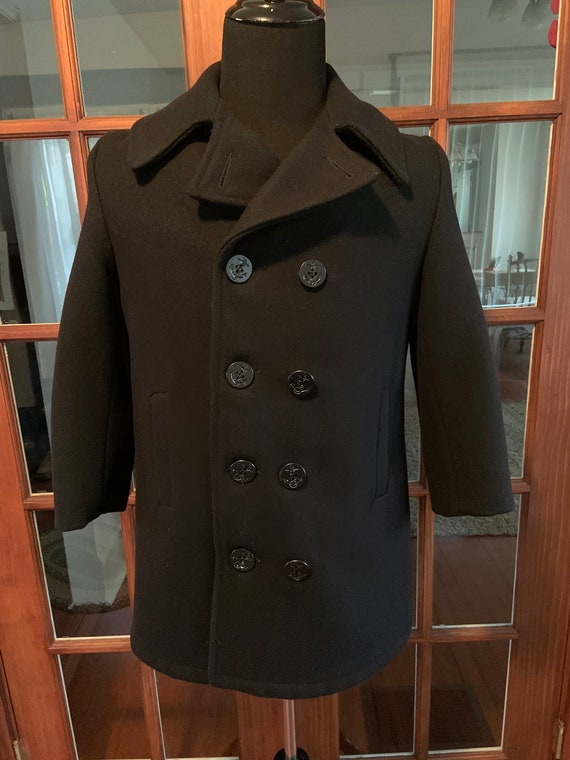 Vintage 1980's US Navy Official Issued Peacoat