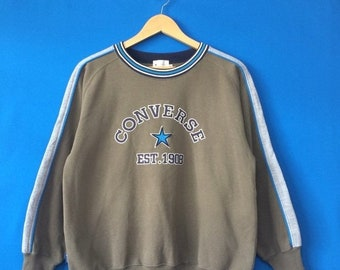 8d80c369bc15 15% OFF Vintage CONVERSE EST 1908 Sweatshirt Big Logo Spell Out Embroidered  Size 160