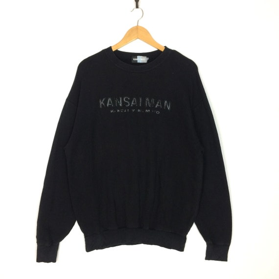Vintage KANSAI YAMAMOTO By Japanese Designer Hoodies Jacket Black Jacket Fashion Designer Size Medium