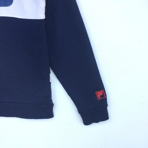 20 % de réduction FILA Vintage sweat sweat Vintage gros Logo sort rayé multicolore taille Medium 600a4d