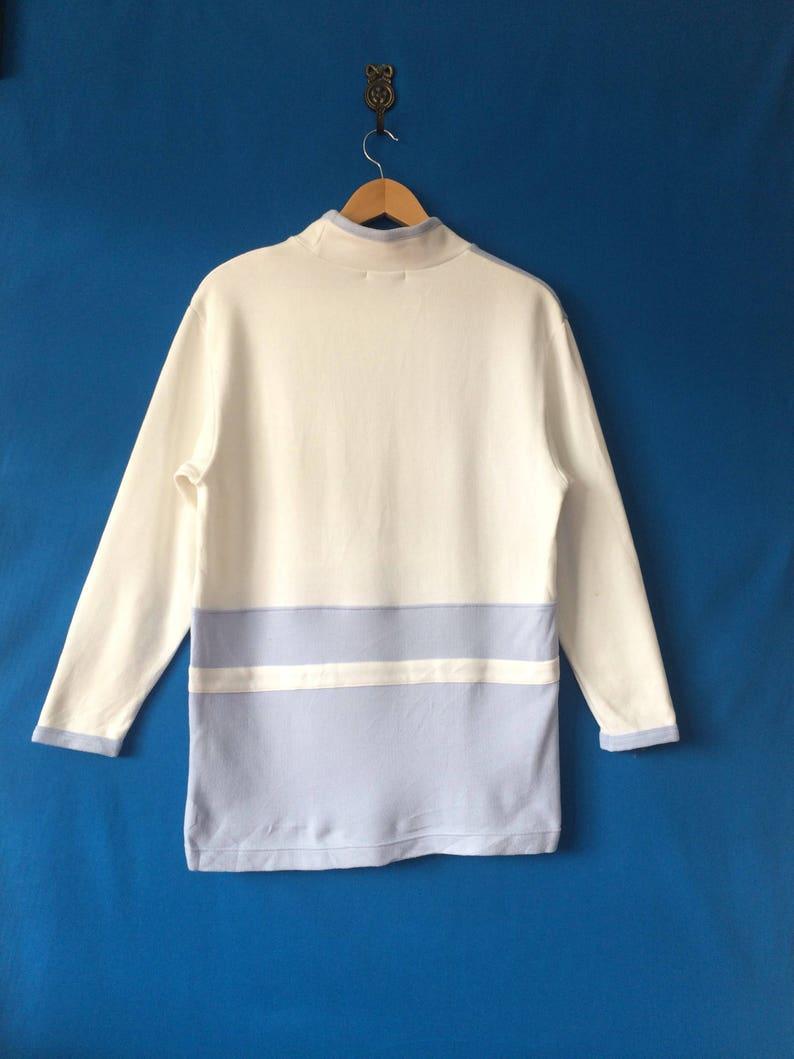 25/% OFF Vintage COURREGES PARIS Sport Futur Sweatshirt Big Logo Spell Out  Two Tone Colour Fashion Designer