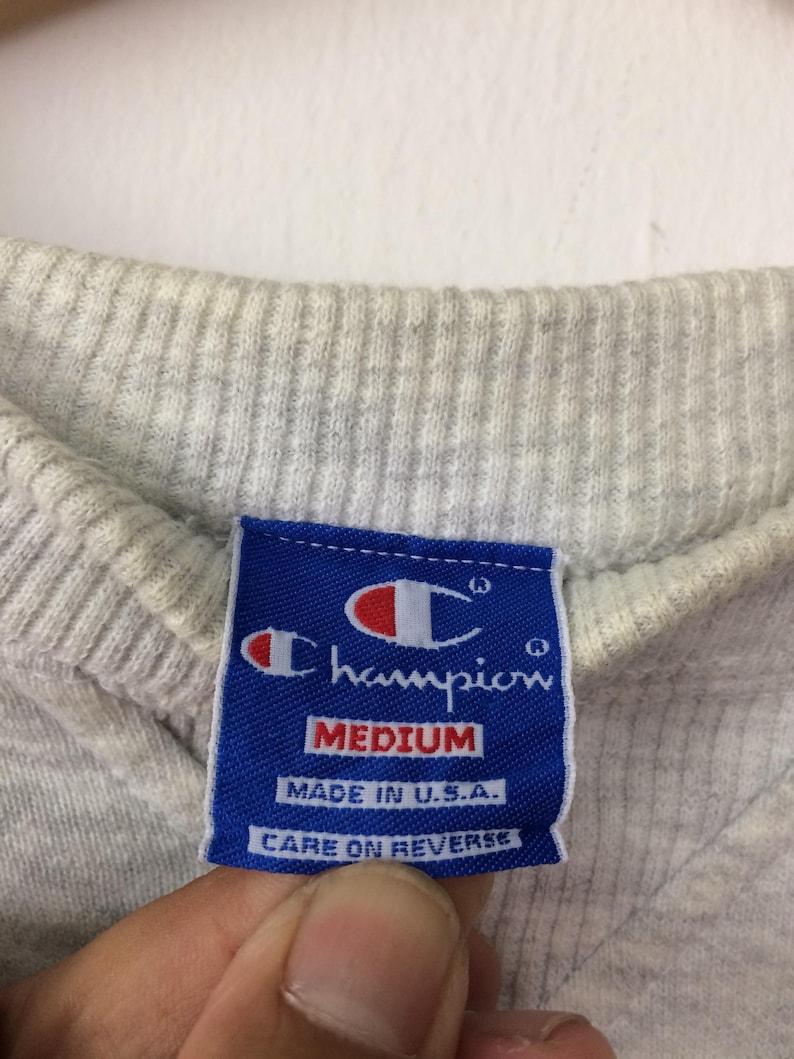 25/% OFF Vintage CHAMPION Sweatshirt Big Logo Spell Out Made In USA Street Fashion Hip Hop Medium Size