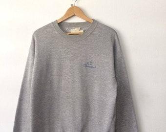 20% OFF Vintage CHAMPION Sweatshirt Gray Colur With Big Logo At Chest Large Size Street Hip Hop Fashion