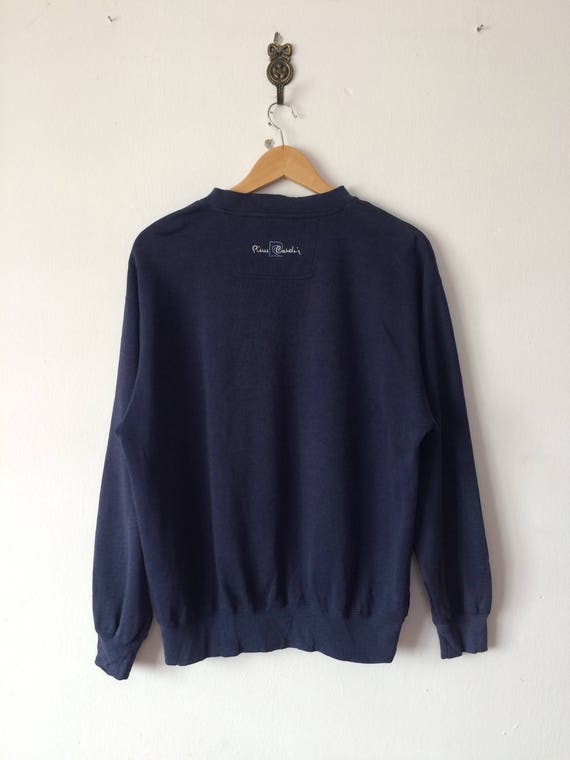 20 % de réduction Vintage PIERRE CARDIN PARIS sweat gros gros sweat Logo Spell Out brodé Top créateur de mode grande taille 8438be