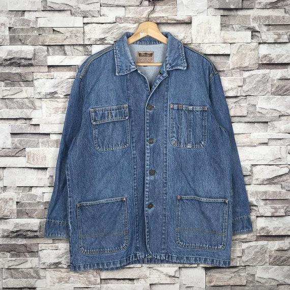 Vintage 1990s VISBY Workwear Denim Chore Jacket Bu