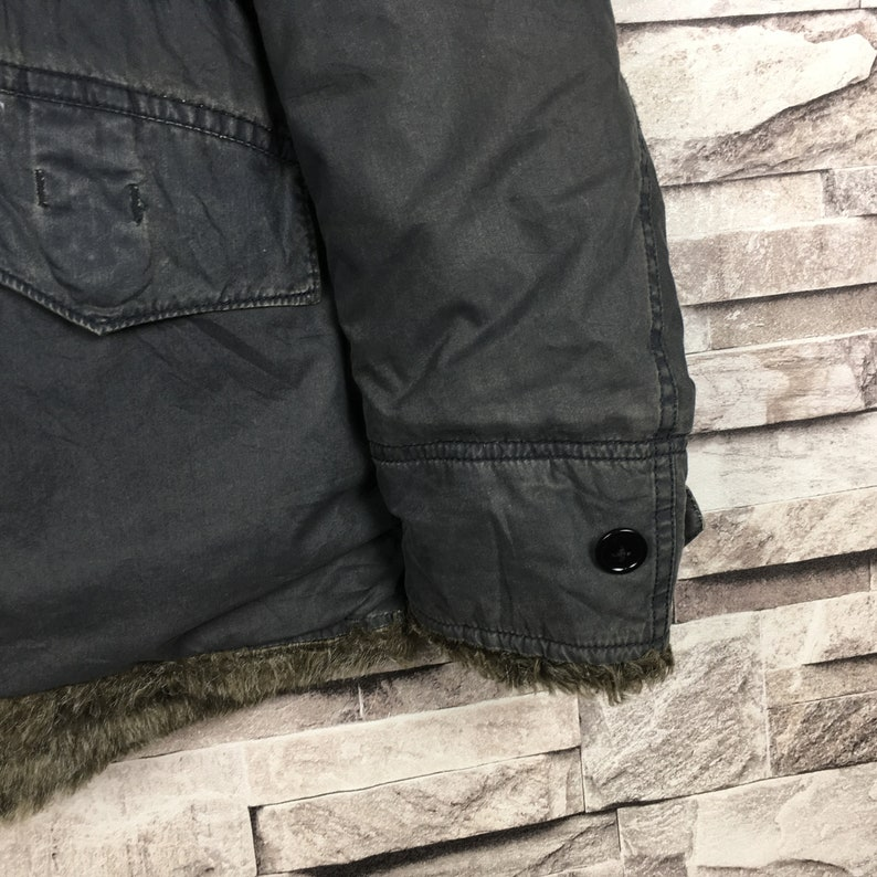 Vintage JOHNBULL Japanese Brand Distressed Bombers Hoodies Jacket Zipper Up Japanese Streetwear Brand Winter Fashion
