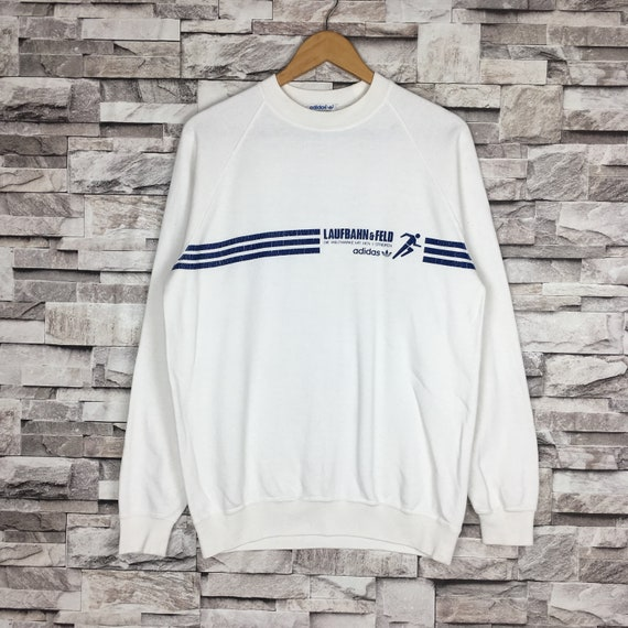 Vintage 90s ADIDAS RUNNING MAN Sweatshirt Big Logo