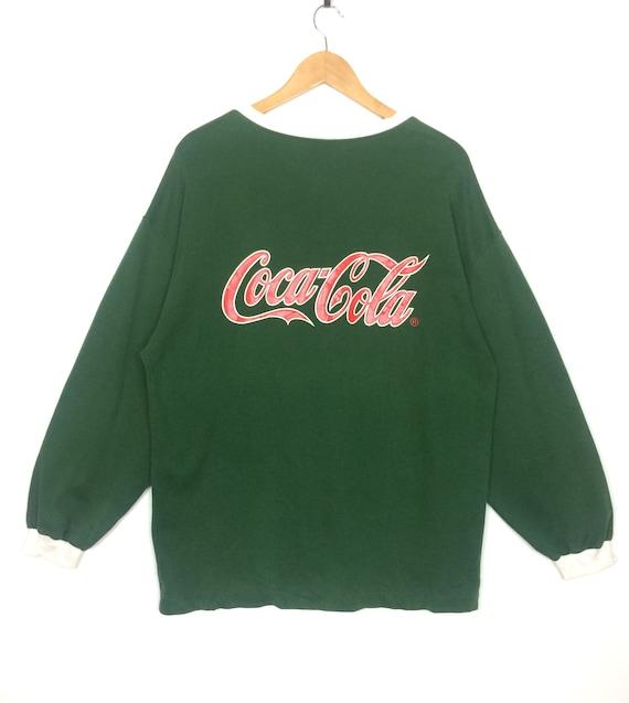 Vintage 90s COCA COLA x PUMA Sweatshirt V-Neck Big Logo Spell   Etsy