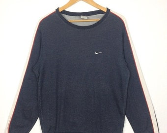 20% OFF NIKE SWOOSH Sweatshirt Embroidered Logo At Chest Size Xl