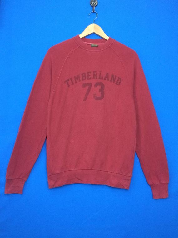 TIMBERLAND 73 Sweatshirt Big Logo Spell Out Size X