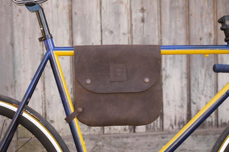 000954ca67c669 Cuoio Borsa bici / bicicletta telaio borsa borsa a tracolla   Etsy