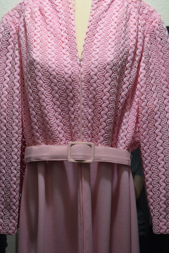 Belt Pink Pink HyTex Vintage Dress Vintage Clothing with Vintage Form Dress Dress Belt Dress 1920's tOvxTwnxq