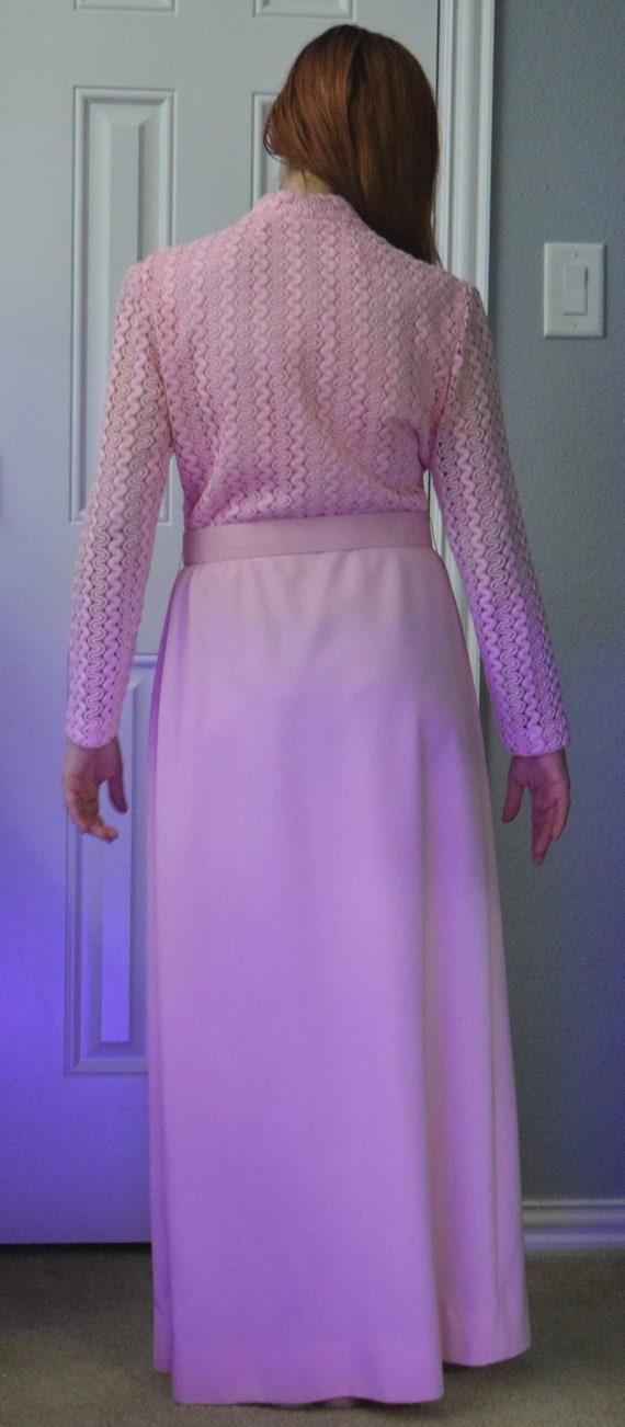 Dress Clothing 1920's Vintage Dress Dress HyTex Pink Belt with Form Belt Vintage Pink Vintage Dress T44xHnF