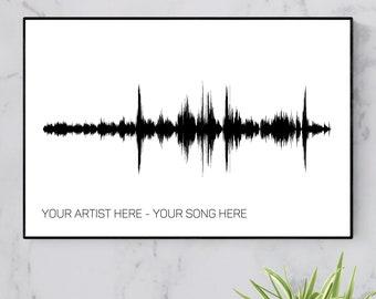 Custom Soundwave Art Print Sound Wave Print 1st Anniversary Gift for Husband Sound Wave Art Christmas Gift for Him Men Boyfriend