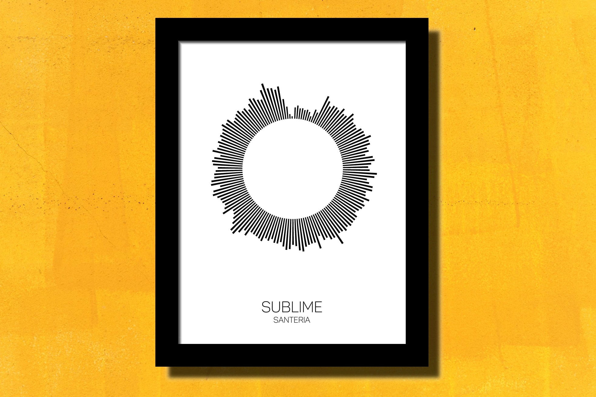 Sublime Santeria Poster Soundwave Art Music Art Sublime Poster | Etsy