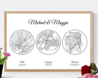 Anniversary Gift for Wife, 1st Anniversary Gift for Her, Paper Anniversary Wife Gift, Met Engaged Married Gift for Husband, Gift for Him