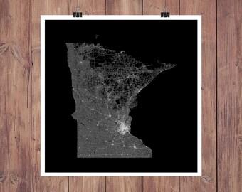 Minnesota Map Art / Minnesota Wall Art / Map of Minnesota / Minnesota Print / Minnesota Art / Minnesota Poster / Minnesota Wall Art
