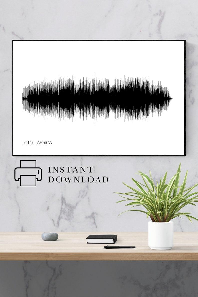 Toto Africa Poster, Soundwave Art, Music Art, Toto Poster, Africa Art, Song  Art, Africa Poster, Africa Toto, Toto Africa Art, Toto Wall Art