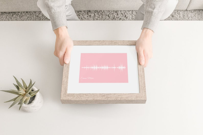 Baby Heartbeat Soundwave Art New Mom Gift New Baby Gift image 0