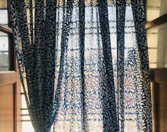 Indigo Curtains Etsy