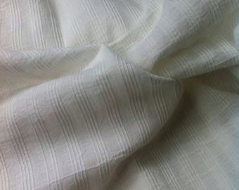 White Cotton fabric- Indian Fabric, Pintuck Fabric, Indian cotton fabric, fabric by the yard, Handloom Cotton Fabric, Fabric by yard
