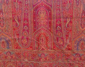 Red Boho Paisley Cotton Wool Throws - Cotton Wool comforters - Woven Cotton Comforters - Pashmina Throw - Cotton Comforter - Bohemian