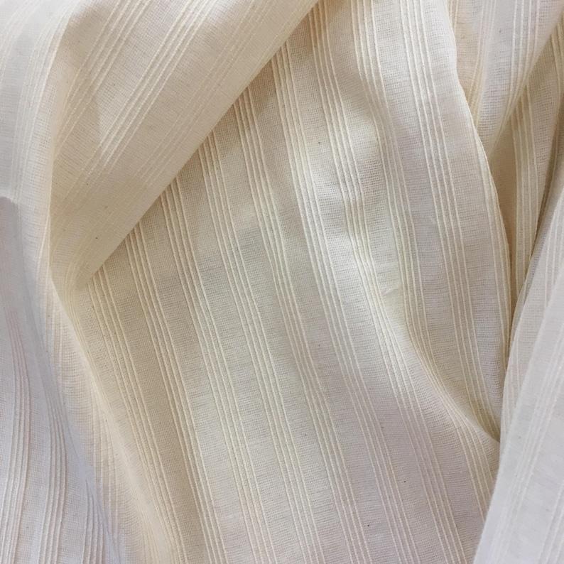 Fabric By The Meter Handloom fabric Pintuck Indian Cotton Fabric Pinstripe Cotton fabric