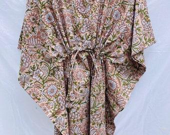 Catton Caftan - Kaftan Dress - Summer Loungewear - summer kaftan kimono - Cotton Weavers