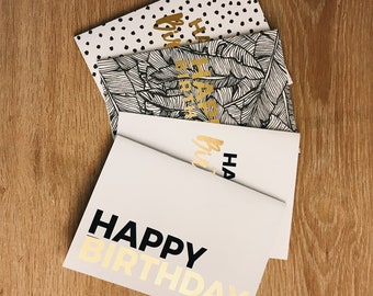 Happy Birthday Greeting Cards Set