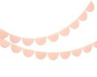 Large Light Pink Scalloped Fringe Paper Garland Baby Shower Decorations Paper Decorations Birthday Party Bunting Wedding Decoration