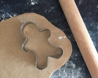Large Gingerbread Men Cookie Cutter for Star Baker Gift Baking Biscuit Enthusiast Biscuiteer Gifts Stainless Steel Festive Christmas Cookies