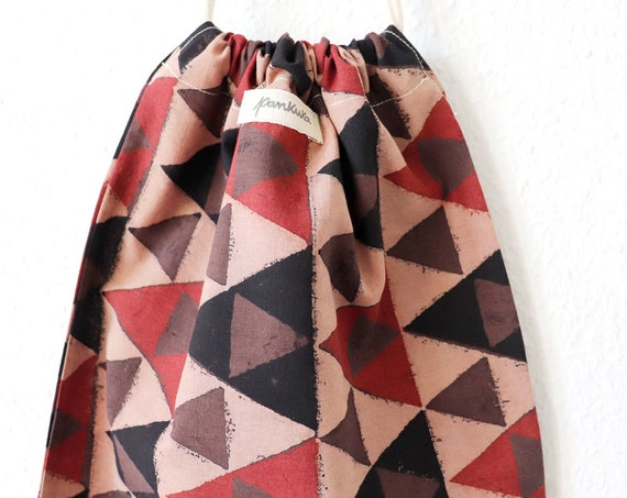 INDIA PATTERNS - Triangles // Cotton Bread Bag