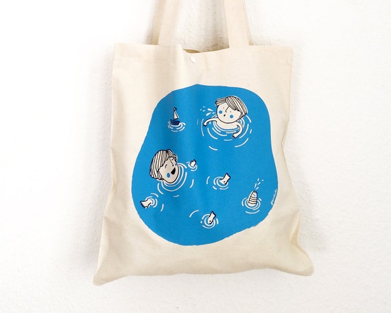 Screen-Printed Shopping Bag // Floating in the Water