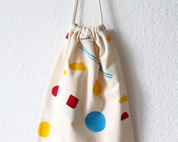 Bold Shapes // Block-printed Cotton Bread Bag