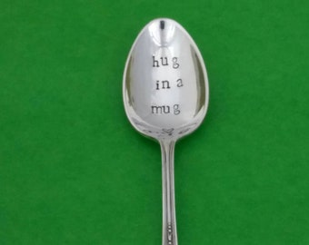 Handstamped personalised Vintage Silver Plated upcycled. Wedding bride groom names Mr Mrs Pair of teaspoons new house gift engagement