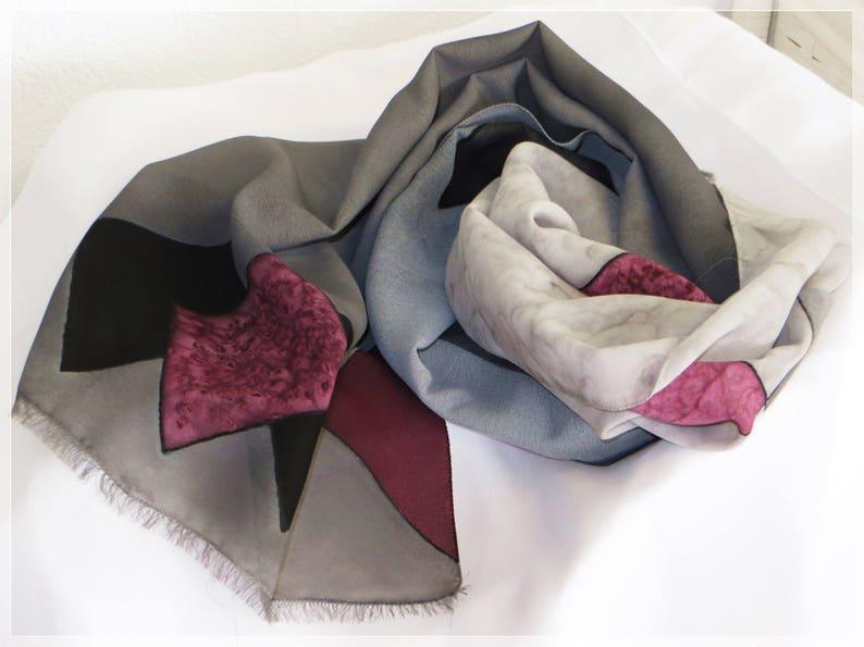 modelli di grande varietà migliori marche accaparramento come merce rara Sciarpa uomo rombi dipinta a mano in misto seta, uomo e unisex, sciarpa  rombi grigia nera prugna, foulard maschile quadri, San Valentino