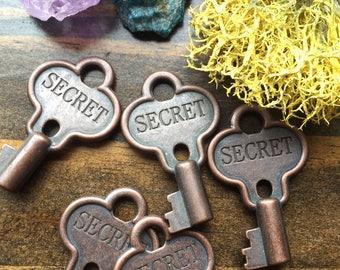 Secret Key - Skeleton Key -  Key - Engraved Secret Skeleton Key
