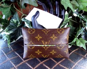 Upcycled Authentic Louis Vuitton Monogram Canvas Pocket KLEENEX Tissue Holder - All Monogram Canvas